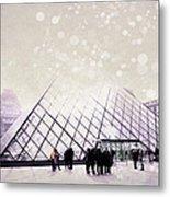 Pink Louvre Paris Metal Print