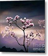 Pink Magnolia - Dark Version Metal Print