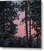 Pink Mountain Morning Metal Print