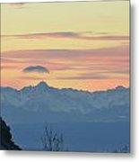 Pink Mountains Metal Print