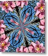Pink Orchid Kaleidoscope 2 Metal Print
