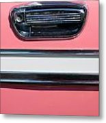 Pink Paint On Old Vintage Car Metal Print