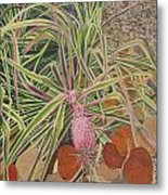 Pink Pineapple Metal Print
