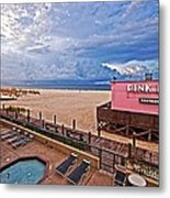 Pink Pony And Approaching Storm Metal Print