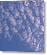 Pink Puffy Clouds Metal Print