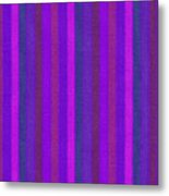 Pink Purple And Blue Striped Textile Background Metal Print