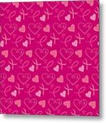 Pink Ribbons  Metal Print
