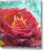 Pink Rose - Digital Paint II Metal Print