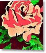 Pink Rose Impression Metal Print