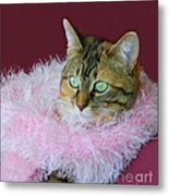 Pink Scarf Metal Print