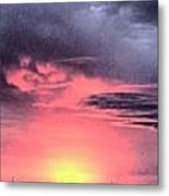 Pink Skies In Stanhope Metal Print