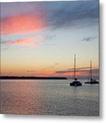 Pink Sky After Sunset, Oia, Santorini Metal Print