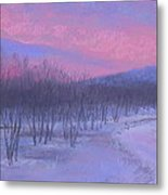 Pink Sunrise At Catfish Corner Metal Print