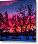 Pink Sunrise Metal Print