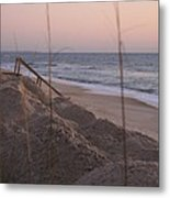 Pink Sunrise On The Beach Metal Print