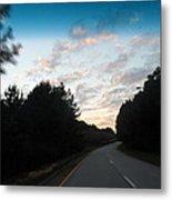 Pink Sunset Sky Metal Print