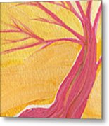 Pink Tree By Jrr Metal Print