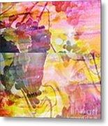 Pink Vineyard Plumps Metal Print