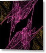 Pink Web Metal Print