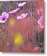 Pink Wild Geranium Metal Print
