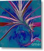 Pink Yucca Twist Metal Print
