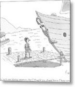 Pinocchio Addresses The Wooden Mermaid Metal Print