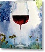 Pinot From Vine To Glass II Metal Print