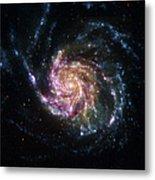 Pinwheel Galaxy Rainbow Metal Print