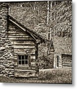 Pioneer Cabin And Shed In Cades Cove E227 Metal Print