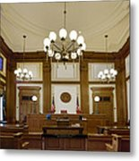 Pioneer Courthouse Courtroom In Portland Oregon Downtown Metal Print