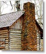 Pioneer Log Cabin Chimney Metal Print