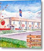 Pioneer Peak Elementary School Metal Print