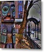 Pioneer Square Totem Pole Metal Print