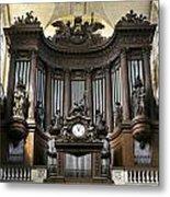 Pipe Organ In St Sulpice Metal Print