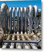 Pipeline Installation For Distribution And Supply Metal Print