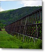 Pipeline Trestle Metal Print