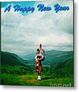 Piper Greeting The New Year Metal Print