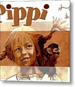 Pippi Longstocking - Fan Version Metal Print