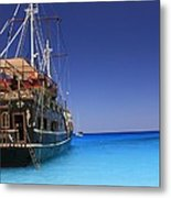Pirate Boat Metal Print