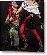 Pirate Couple 1 Metal Print