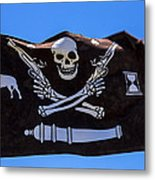 Pirate Flag With Skull And Pistols Metal Print