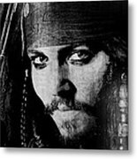 Pirate Life - Black And White Metal Print