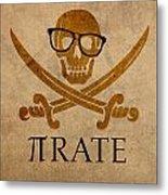 Pirate Math Nerd Humor Poster Art Metal Print