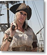 Pirate Queen With A Bad Attitude Metal Print
