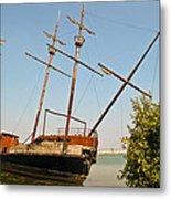 Pirate Ship Or Sailing Ship Metal Print