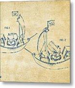 Pirate Ship Patent Artwork - Vintage Metal Print