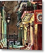 Pirate's Alley Evening Metal Print