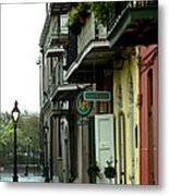 Pirates Alley In The Rain  Metal Print
