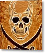 Pirates Skull Digtal Painting Metal Print