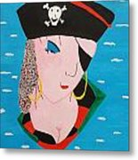 Piratess Of The Sea Metal Print